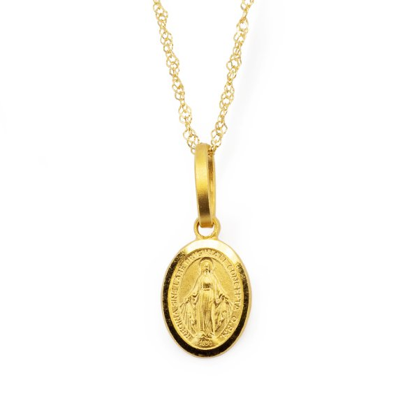 Necklace with miraculous in 18kt 750 yellow gold