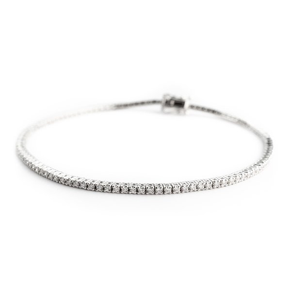 Tennis bracelet in gold and diamonds