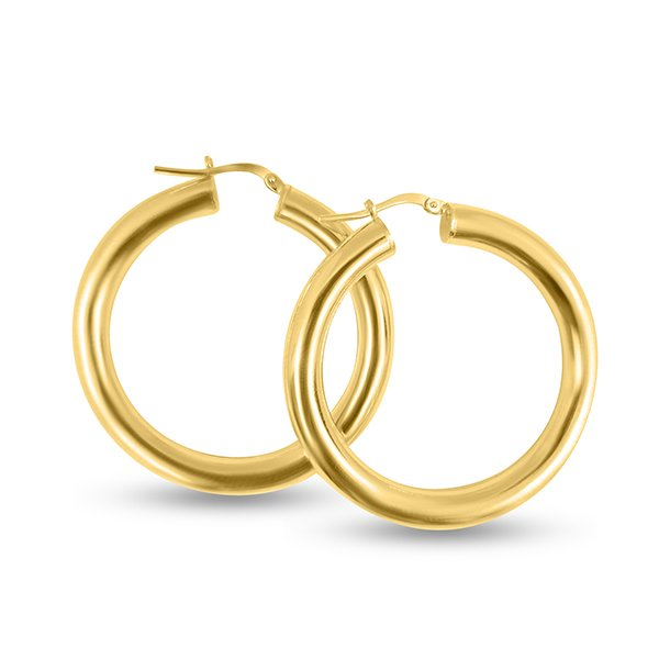 medium gold silver hoop earrings