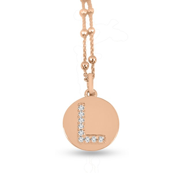 Collana in argento lettere