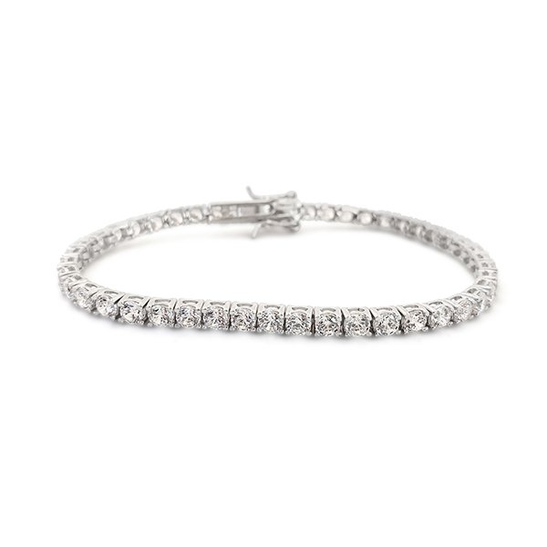 925er silver tennis bracelet with zircons