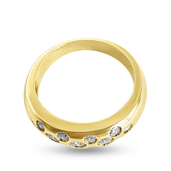 Band ring in 750 gold and diamonds