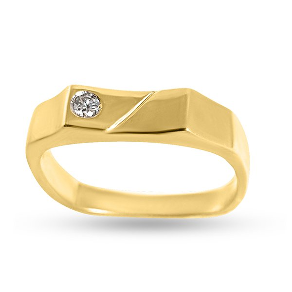 750 gold men's ring with diamond