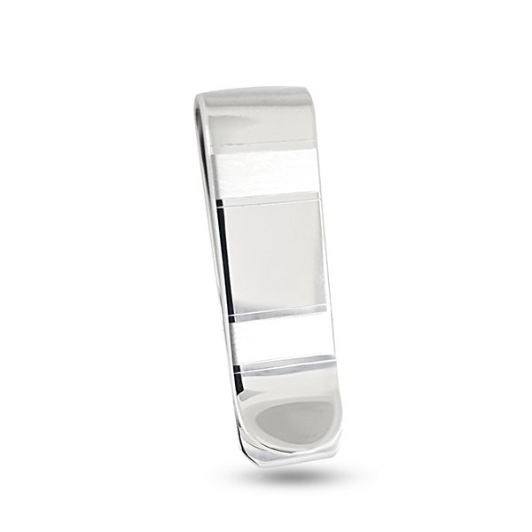 Customizable sterling silver money clip